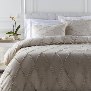 Willa Arlo Interiors Teresa Cotton Blend; Linen Duvet Set