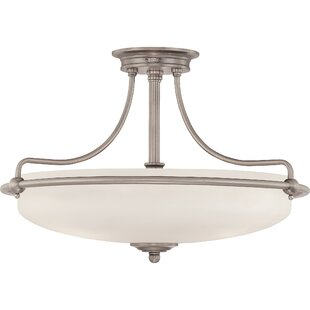 Helsley 3-Light Semi Flush Mount by Brayden Studio