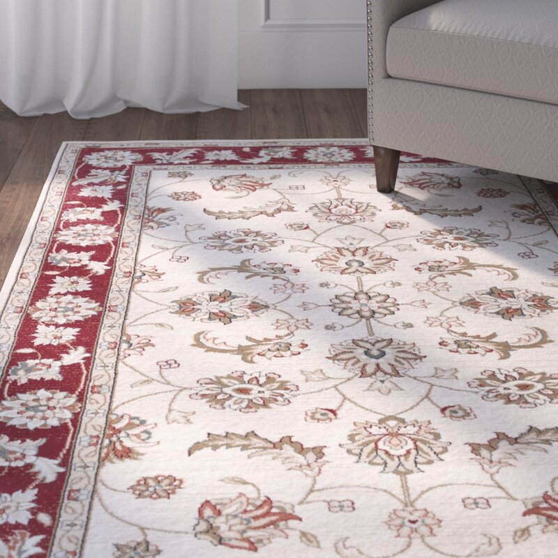 Charlton Home Arnot Ivory Red Area Rug Reviews Wayfair