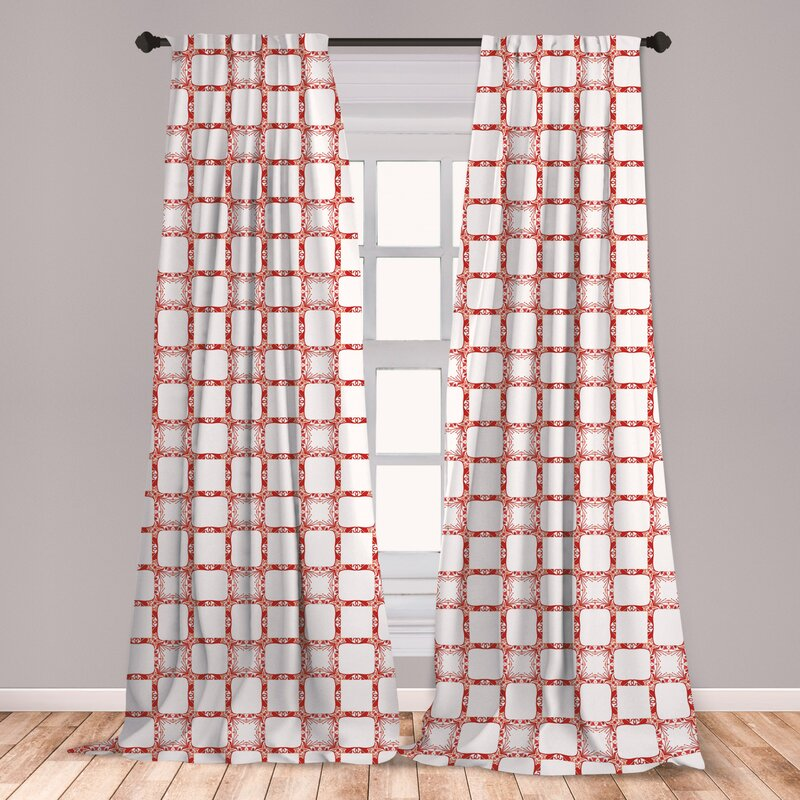 East Urban Home Blosse Ethnic Room Darkening Rod Pocket Curtain Panels Wayfair