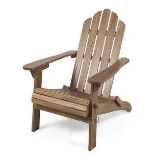 Gracie Oaks Larracey Solid Wood Folding Adirondack Chair