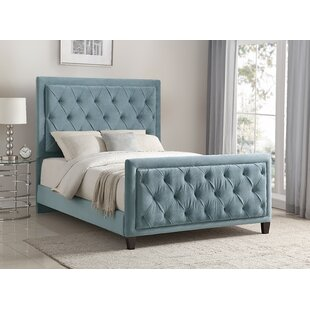 Leonia Bella Ocean Upholstered Panel Bed