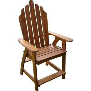 Beachcrest Home Pine Hills Solid Wood Adirondack Chair (Set of 2)