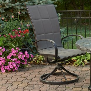 Laforest Swivel Patio Dining Chair with Cushion (Set of 2)