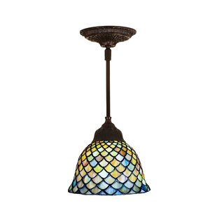 Astoria Grand Diane Fishscale 1-Light Cone Pendant