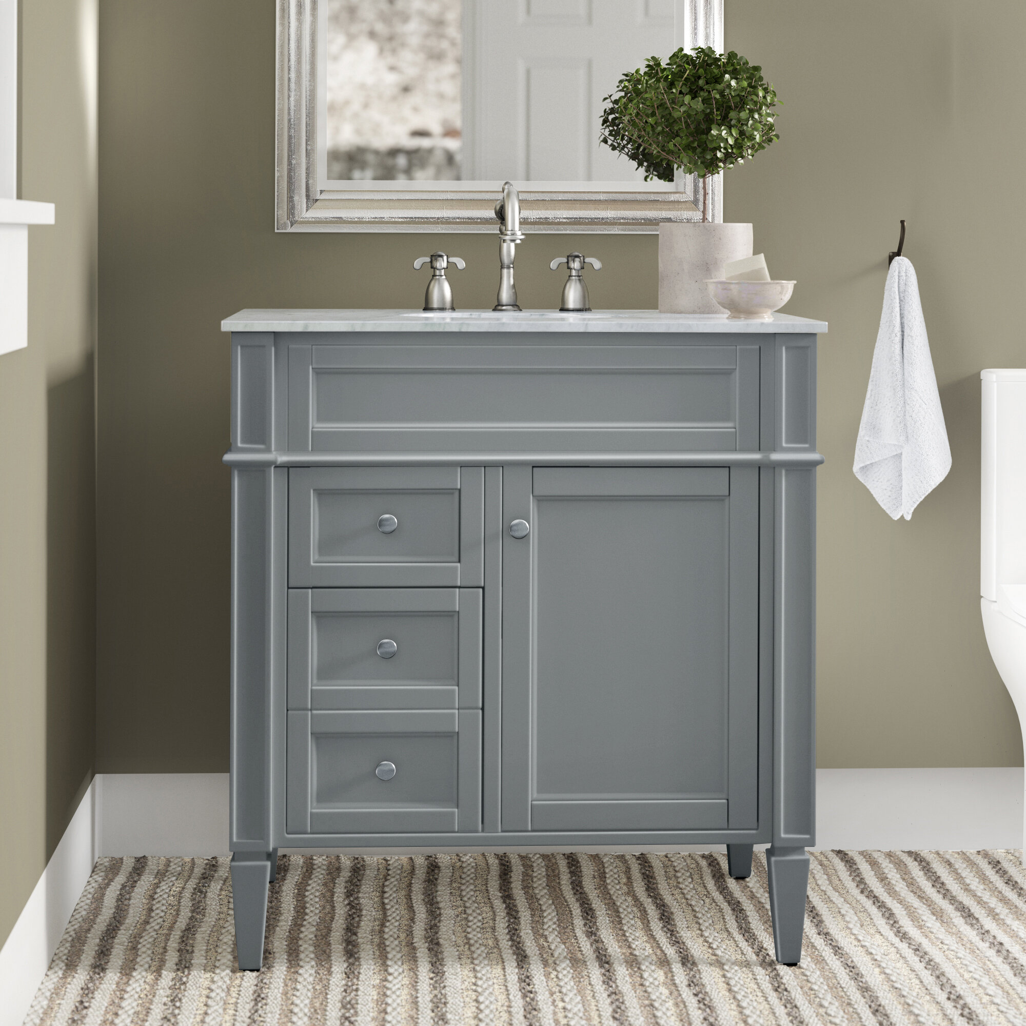 Birch Lane Antionette 32 Single Bathroom Vanity Set Reviews Wayfair