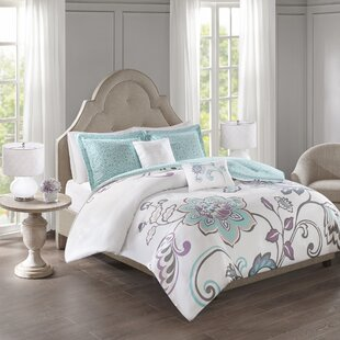 Aileen 5 Piece Reversible Print Duvet Cover Set