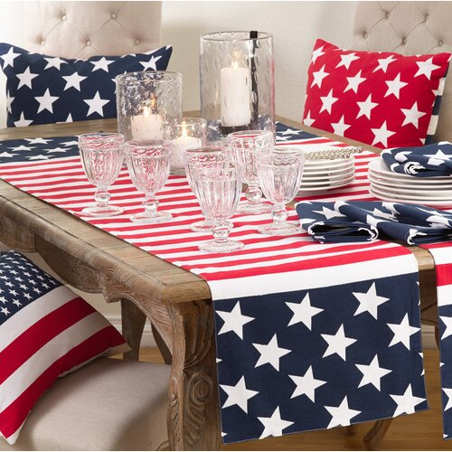Red, White and Blue Table Runner For Fourth of July, Memorial Day