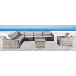 Huddleson 10 Piece Sectional Set with Cushions by Rosecliff Heights