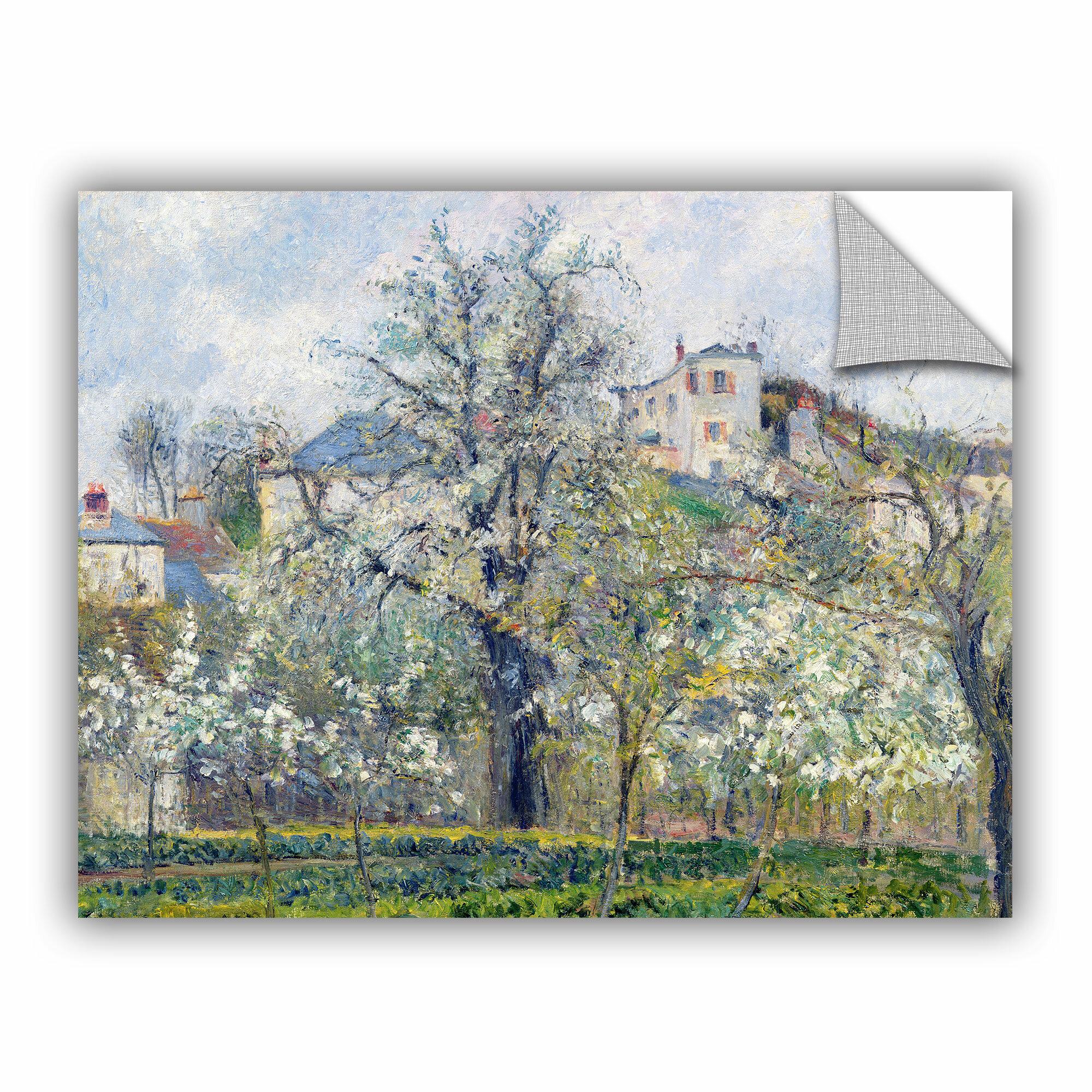 Artwall Bridgeman Camille Pissarro The Vegetable Garden With Trees In Blossom Spring Pontoise 1877 Wall Decal Wayfair