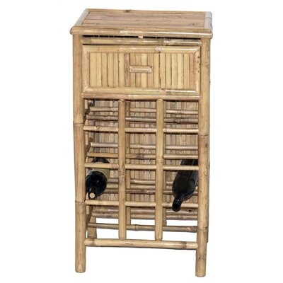 12 Bottle Floor Wine Rack Bamboo54