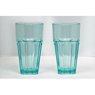 Middlewich 22 oz. Plastic/Acrylic Every Day Glasses (Set of 6)