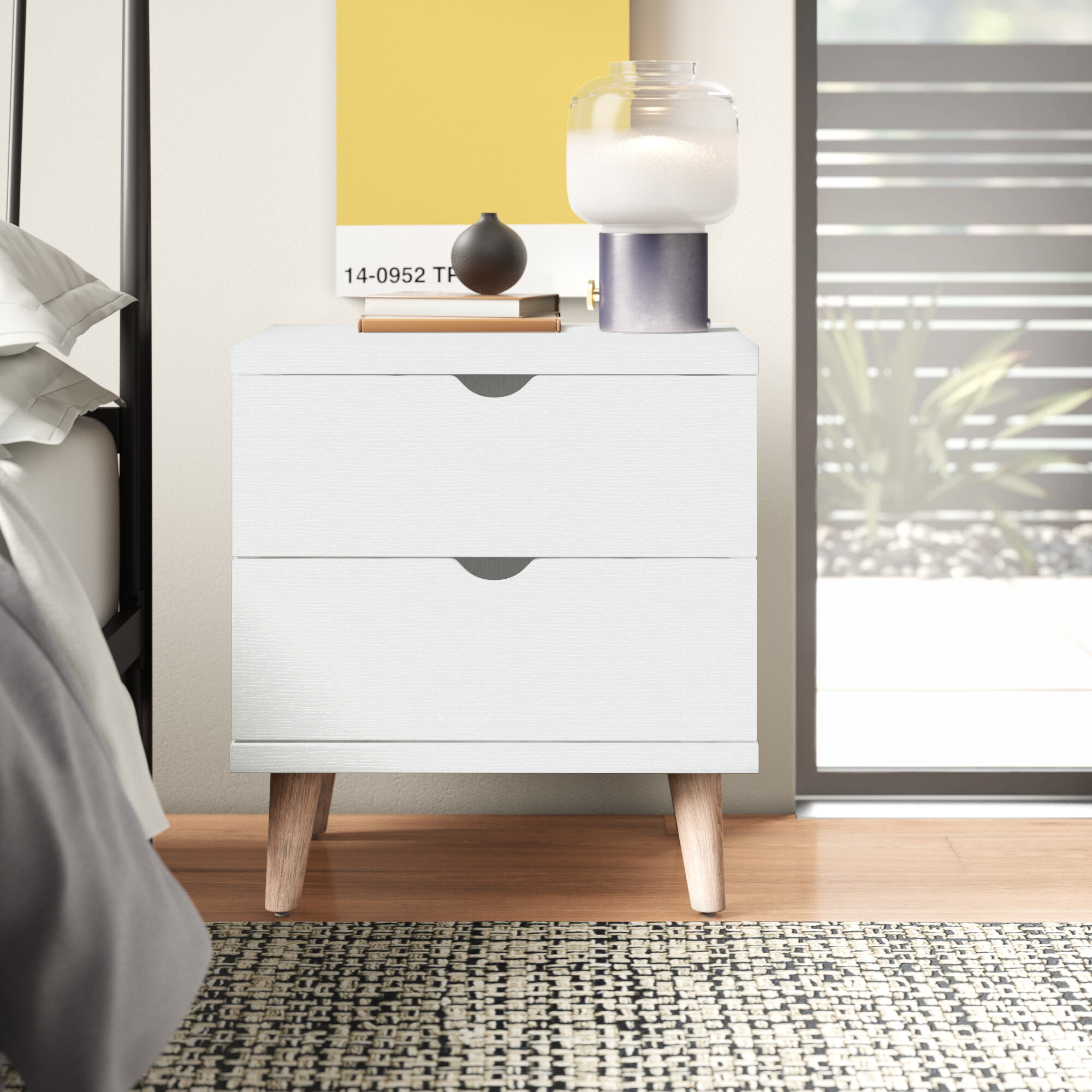 Altair 2 Drawer Nightstand Reviews Allmodern