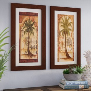 Tuscan Palm I 2 Piece Framed Graphic Art Print Set
