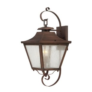 Compare prices Berryman 2-Light Outdoor Wall Lantern By Fleur De Lis Living