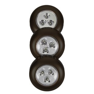 Reviews Fulcrum Battery-Operated LED Under Cabinet Puck Light (Set of 3) By Light It!