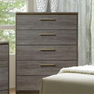 Stoneham 5 Drawer Chest by Wrought Studio