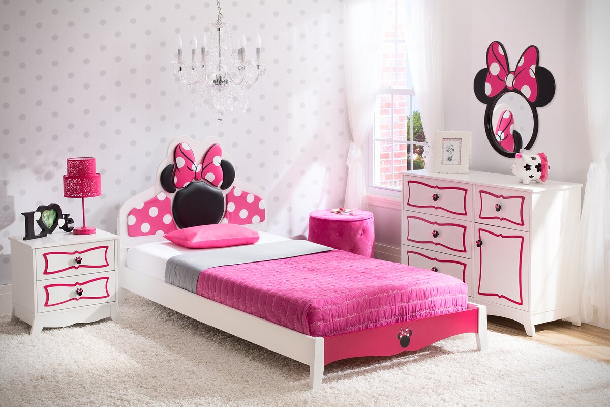 Minnie Mouse Bedroom Captivating Delta Children Disney Minnie Mouse Panel 4 Piece Bedroom Set Review