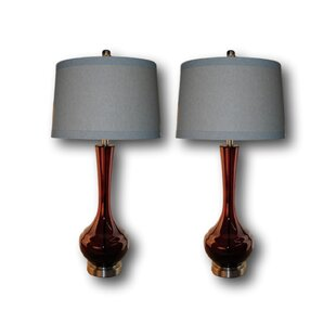 Harrod 32 Table Lamp Set (Set Of 2) by Mercer41 Top Reviews