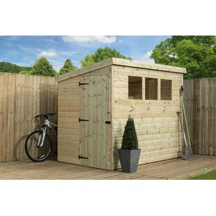 5 Ft. W X 6 Ft. D Shiplap Pent Wooden Shed By WFX Utility