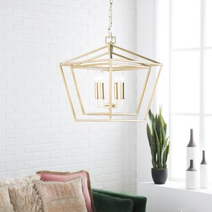 Susanna Transitional 4-Light Lantern Chandelier