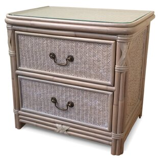 Bedelia Wicker 2 Drawer Nightstand by Bay Isle Home