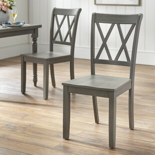 Kristopher Solid Wood Dining Chair (Set of 2) Ophelia & Co.