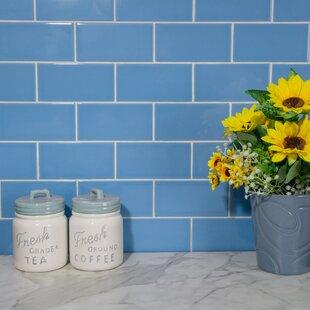 Prospect 3 inch  x 6 inch  Ceramic Subway Tile in Blue