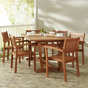 Beachcrest Home Monterry 7 Piece Slatted Dining Set