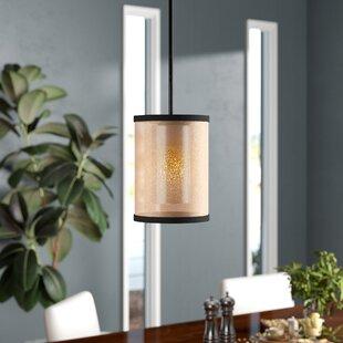 Dailey 1-Light Cylinder Pendant by Brayden Studio