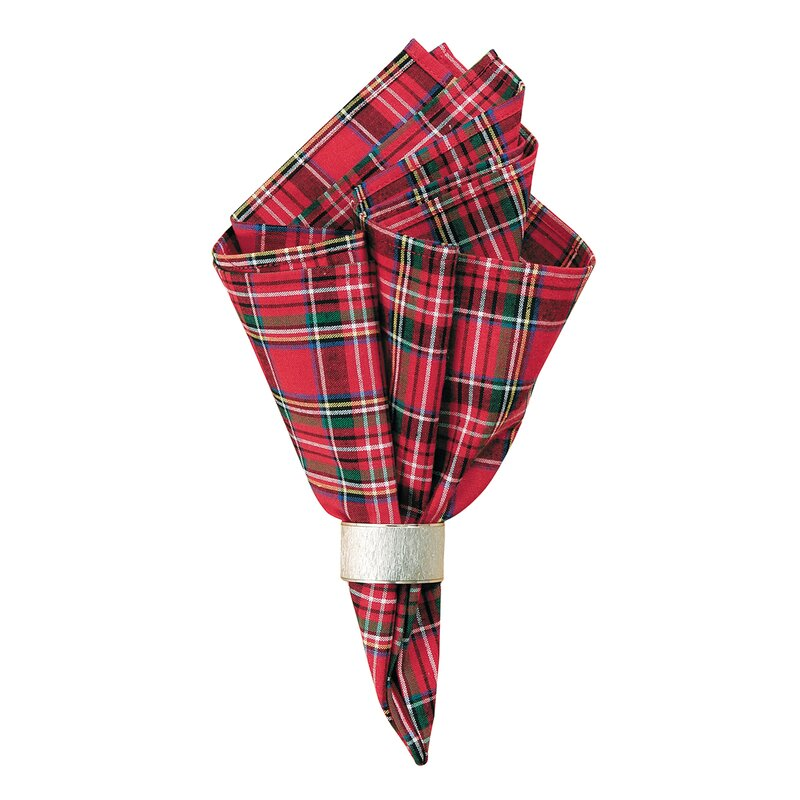 Luyen Plaid Napkin. Holiday decor inspiration with plaid, checks, and tartans! Come be inspired by this classic pattern for Christmas decorating. #plaid #christmasdecor #holidayinspiration #checks #decorating #inspiration