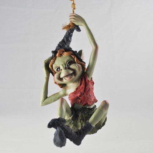 Gartenfigur Kobold an Seil Schwingend Happy Larry | Garten > Dekoration > Dekofiguren | Happy Larry