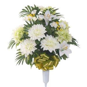 Signature Round Mixed Dahlia Floral Vase Arrangement