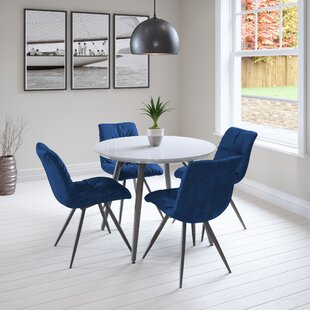Adar Dining Set With 4 Chairs By 17 Stories