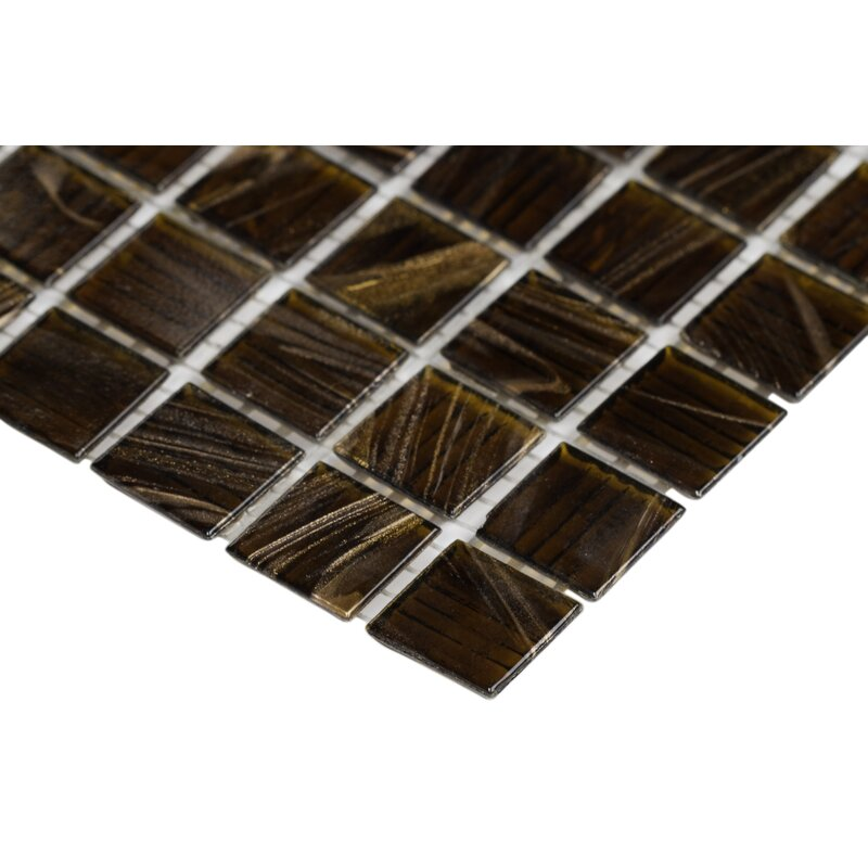 0 75 X Gl Mosaic Tile In Brown Iridescent