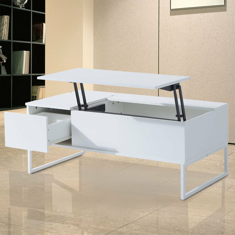 Homcom Modern Lift Top Coffee Table With Storage Wayfair