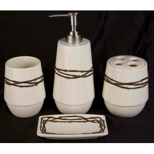 Loon Peak Galyean 4-Piece Bathroom Accessory Set