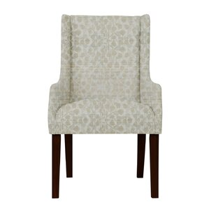 Larrabee Upholstered Solid Wood Arm Chair by Red Barrel Studio