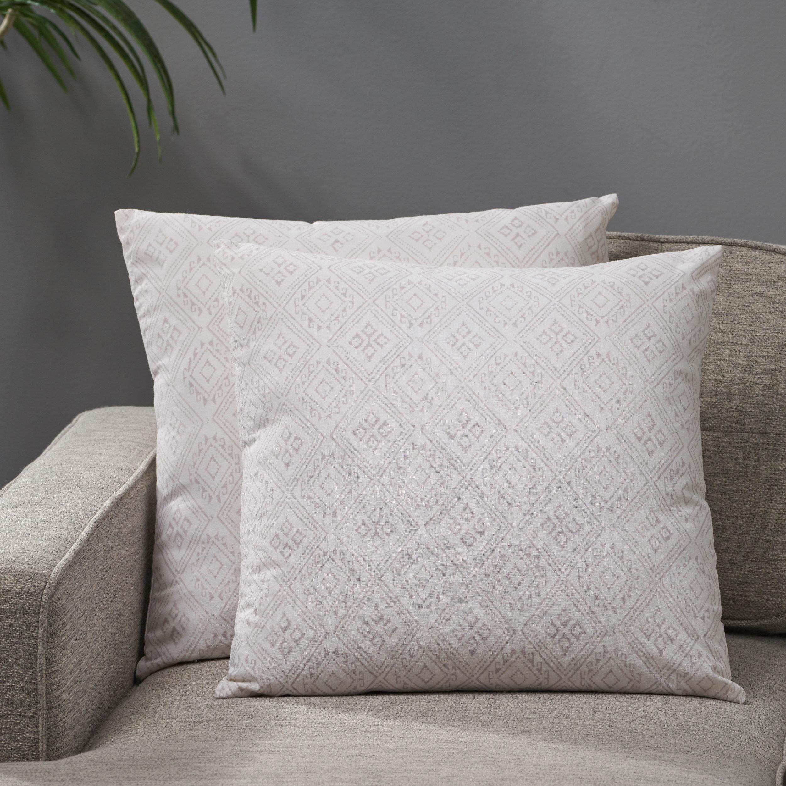 Dakota Fields Nailwell Cotton Geometric 18 Throw Pillow Cover Wayfair