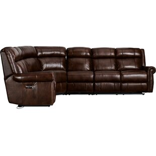 Esme Leather Corner Reclining Sectional By Hooker Furniture