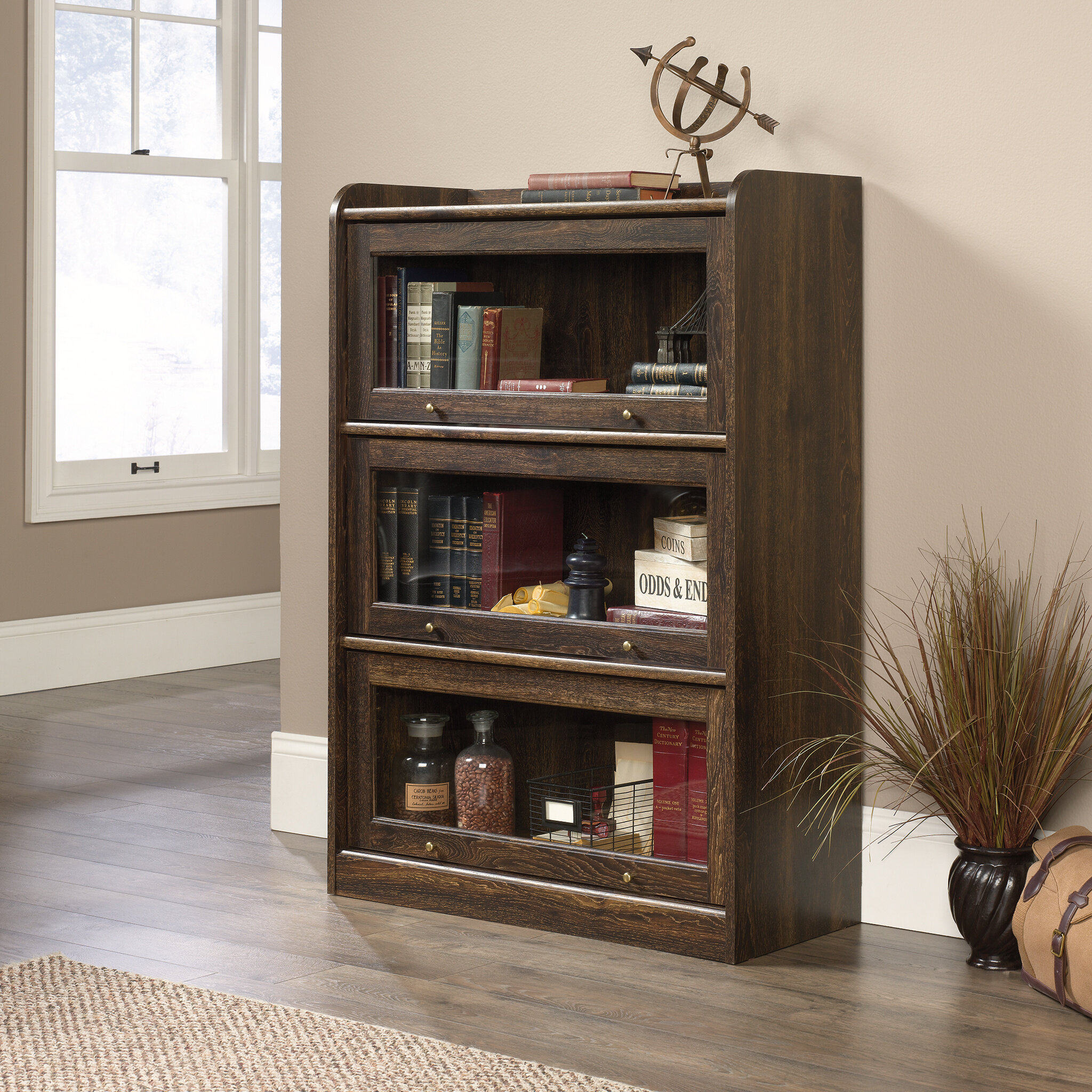 Beachcrest Home Mouzon Barrister Bookcase & Reviews | Wayfair