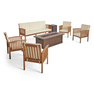 Brice Outdoor 7 Piece Sofa Seating Group with Cushions