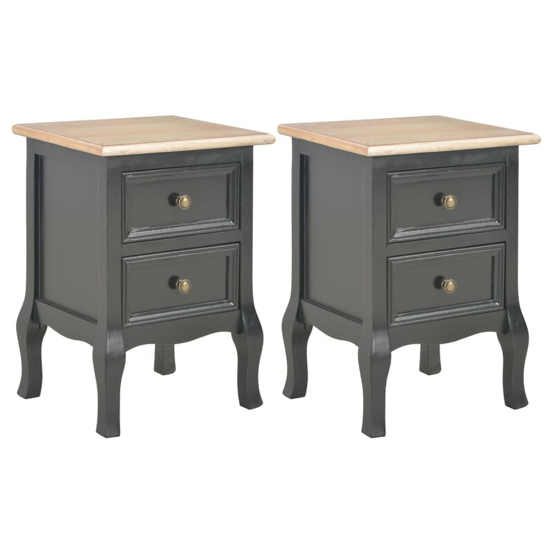 August Grove Becerra 2 Drawer Bedside Table Wayfair Co Uk