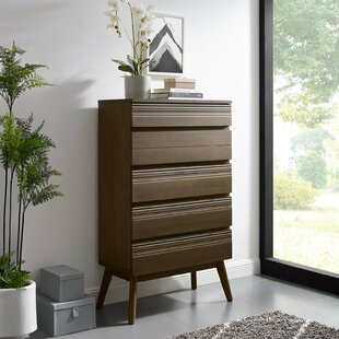 Burson Wood 5 Drawer Chest