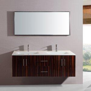 55″ Double Vanity Set with Mirror