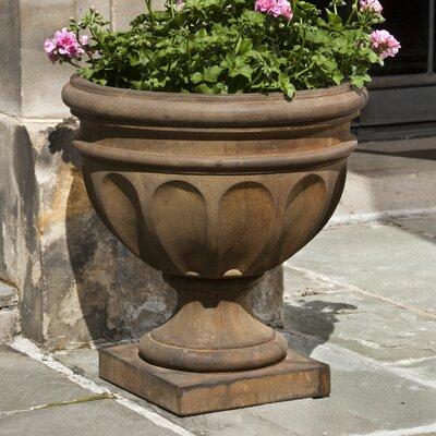 Mahowny Cast Stone Urn Planter Astoria Grand Color: Aged Limestone