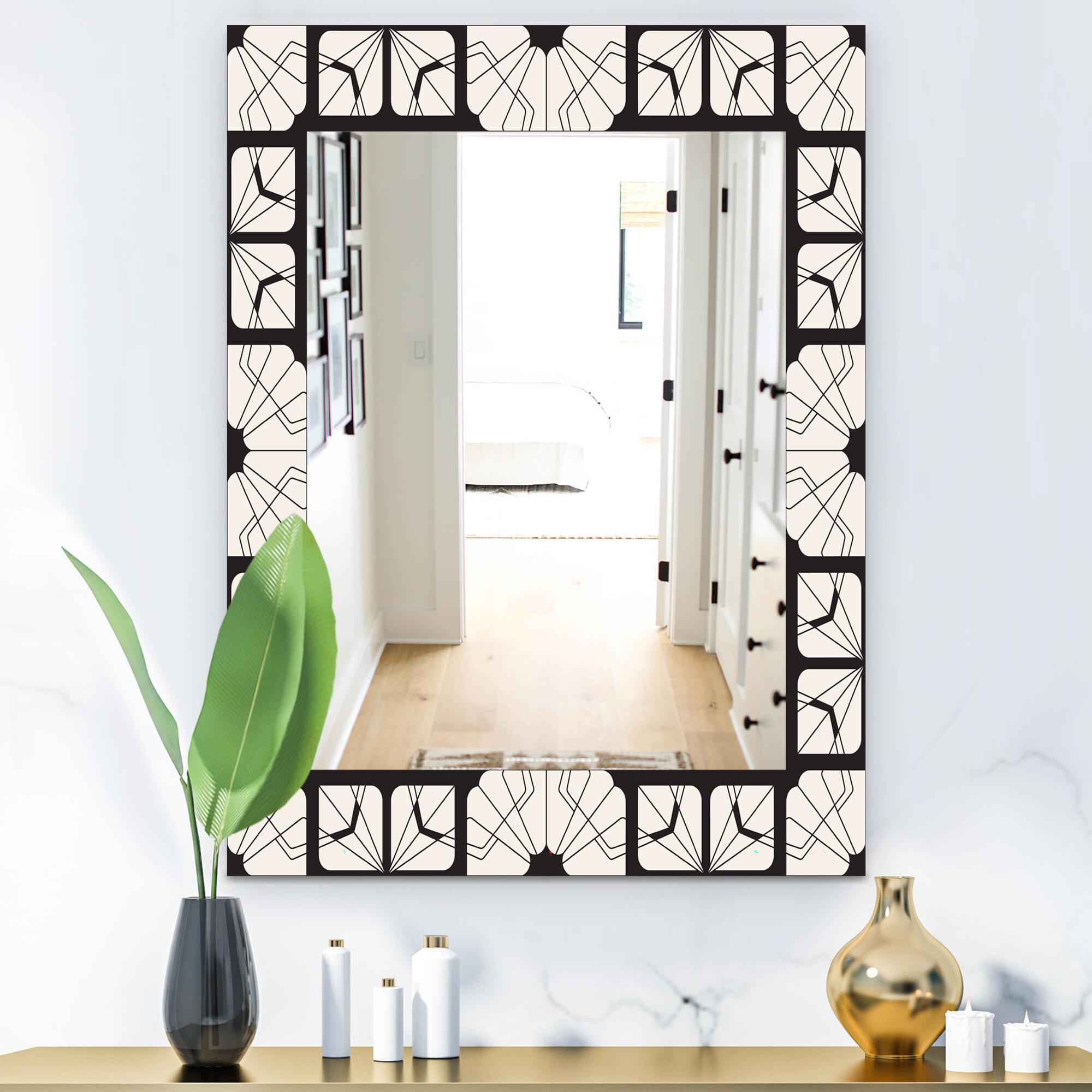 Mid Century Modern Frameless Wall Mirror