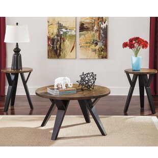 Haffey 3 Piece Coffee Table Set Brayden Studio