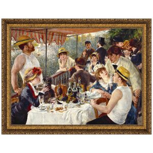Luncheon of the Boating Party, 1881 by Pierre-Auguste Renoir Framed Painting Print