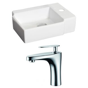 Purchase Ceramic 17 Wall Mount Bathroom Sink with Faucet By American Imaginations